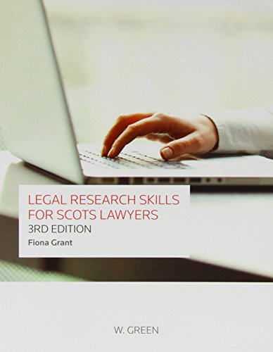 9780414018259: Legal Research Skills for Scots Lawyers