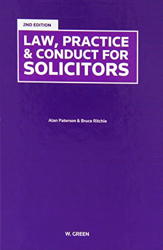 Law, Practice Conduct for Solicitors (Hardback): Alan Paterson, Bruce Ritchie