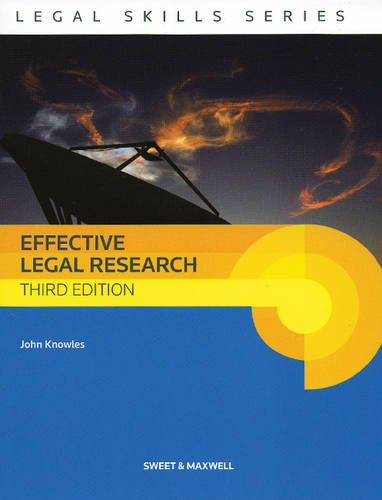 9780414022942: Effective Legal Research