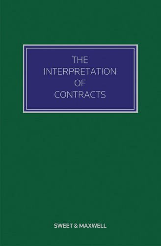 9780414023062: The Interpretation of Contracts (The Contract Law Library)