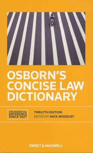 9780414023208: Osborn's Concise Law Dictionary
