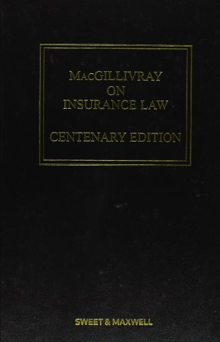 9780414024458: MacGillivray on Insurance Law