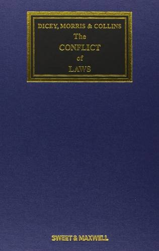 9780414024533: Dicey, Morris & Collins on the Conflict of Laws (Textbook)