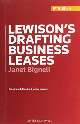 Lewison's Drafting Business Leases. (Paperback): Janet Bignell