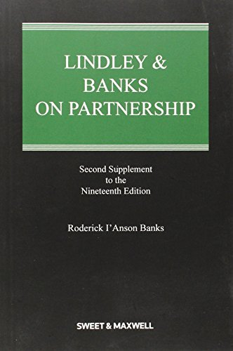 Lindley & Banks on Partnership 2nd Supplement: Roderick I'Anson Banks