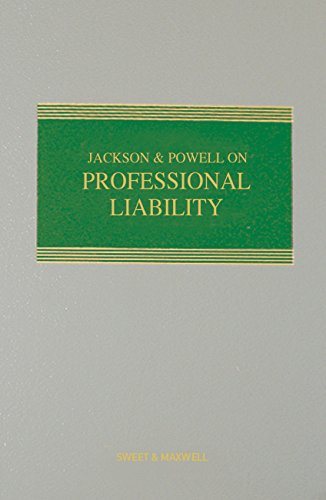 9780414026797: Jackson & Powell on Professional Liability Mainwork & Supplement