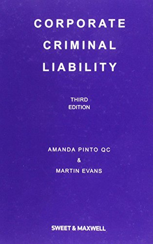9780414027589: Corporate Criminal Liability