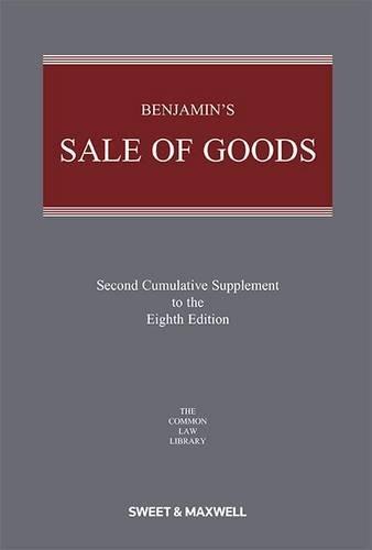 9780414027916: Benjamin's Sale of Goods 2nd Supplement