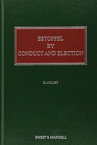 9780414028449: Estoppel by Conduct and Election
