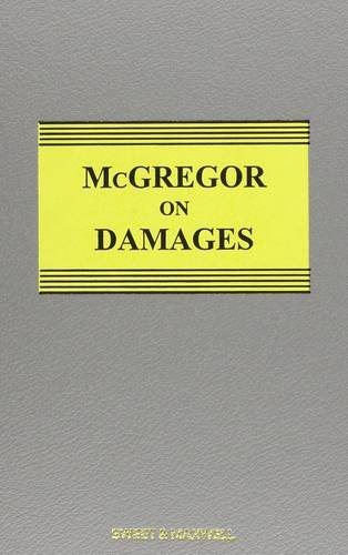 9780414028470: Mcgregor on Damages