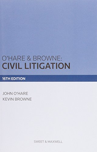 9780414028494: O'Hare & Browne: Civil Litigation