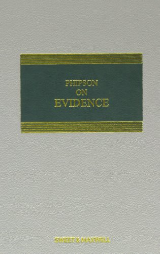 9780414028500: Phipson on Evidence