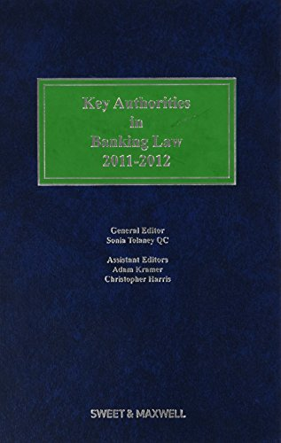 9780414028760: Key Authorities in Banking Law 2011-2012