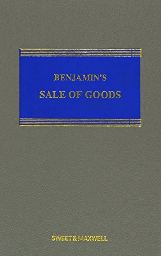 9780414028777: Benjamin's Sale of Goods