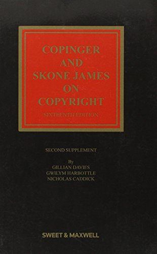 9780414028869: Copinger & Skone James on Copyright 2nd Supplement