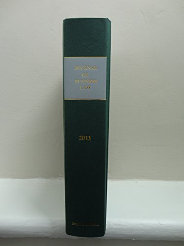 9780414029521: Journal of Business Law 2013 Bound Volume