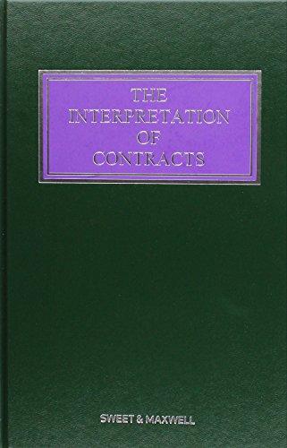 The Interpretation of Contracts: Mainwork & Supplement: Lewison, Hon Mr
