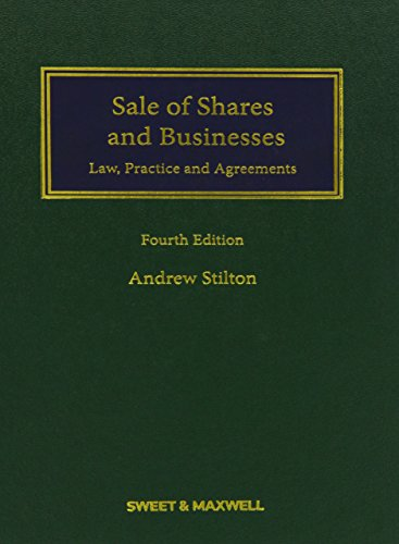 9780414031784: Sale of Shares and Businesses: Law, Practice and Agreements