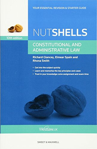 9780414031876: Nutshell Constitutional and Administrative Law (Nutshells) (Nushell)