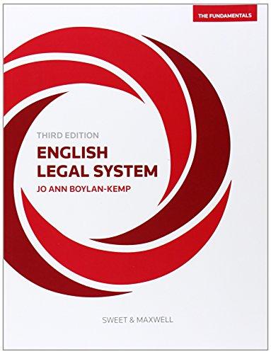 9780414033146: English Legal System: The Fundamentals