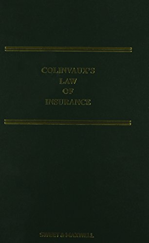 9780414034211: Colinvaux's Law of Insurance Supplement 1