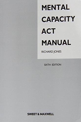 9780414034389: Mental Capacity Act Manual