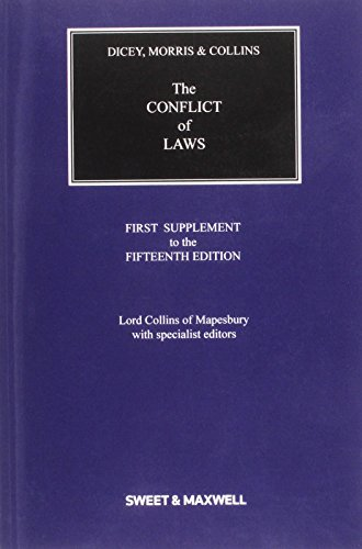 9780414035010: Dicey, Morris & Collins on the Conflict of Laws 1st Supplement
