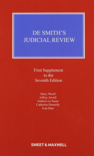 9780414036673: De Smith's Judicial Review 1st Supplement