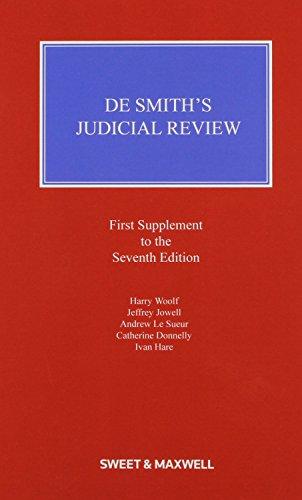 9780414036673: De Smith's Judicial Review 1st Supplement