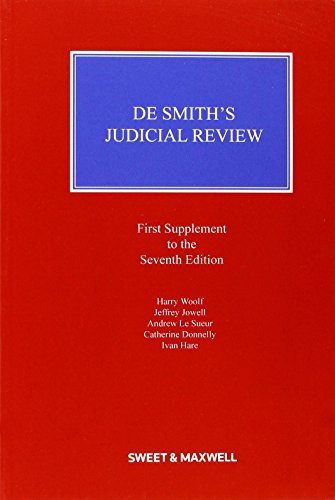 9780414036680: De Smith's Judicial Review Mainwork & Supplement