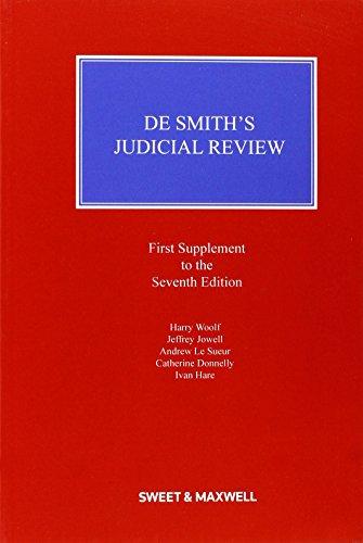 9780414036680: De Smith's Judicial Review Mainwork & Supplement