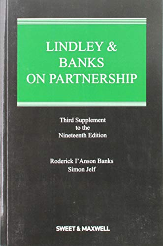 Lindley Banks on Partnership 3rd Supplement (Paperback): Roderick I anson