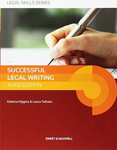 9780414037045: Successful Legal Writing (Latest Edition 2015)