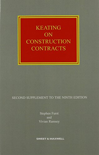 Keating on Construction Contracts: 2nd Supplement: Hon Sir V Ramsey, Furst