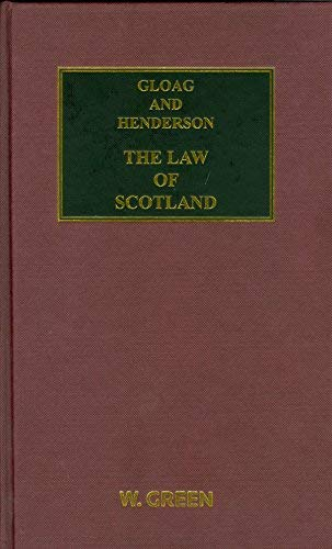 9780414038639: Gloag and Henderson: The Law of Scotland