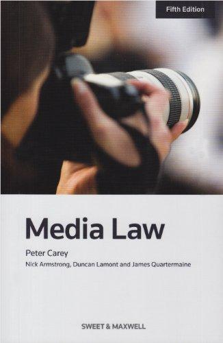 Media Law: Professor Peter Carey