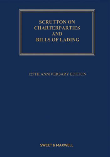 Scrutton on Charterparties and Bills of Lading.: Eder, Henry Bernard