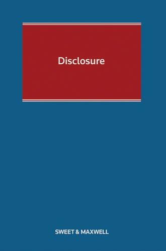 9780414047792: Disclosure