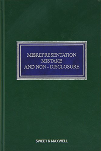 9780414049550: Misrepresentation, Mistake and Non-Disclosure (Contract Law Library)