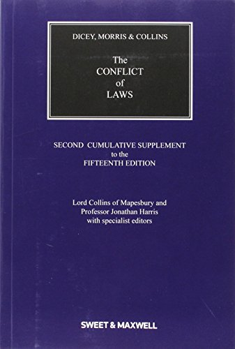 9780414050655: Dicey, Morris & Collins on the Conflict of Laws 2nd Supplement