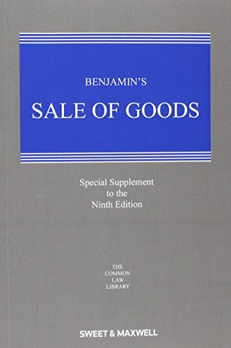 9780414051034: Benjamin's Sale of Goods 1st Supplement