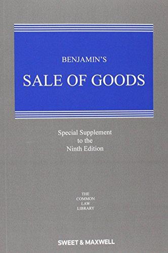 9780414051034: Benjamin's Sale of Goods 1st Supplement