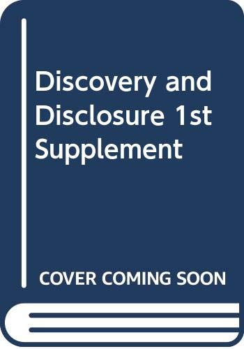 9780414051089: Discovery and Disclosure