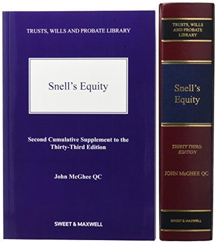 9780414051607: Snell's Equity Mainwork & Supplement