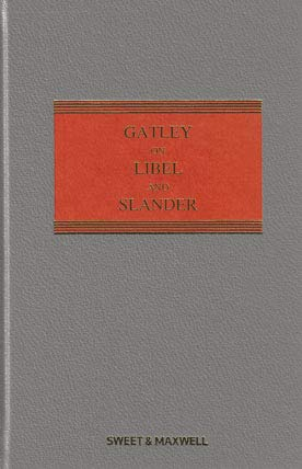 9780414052635: Gatley on Libel and Slander Mainwork & Supplement
