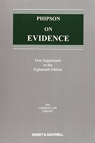 9780414052734: Phipson on Evidence