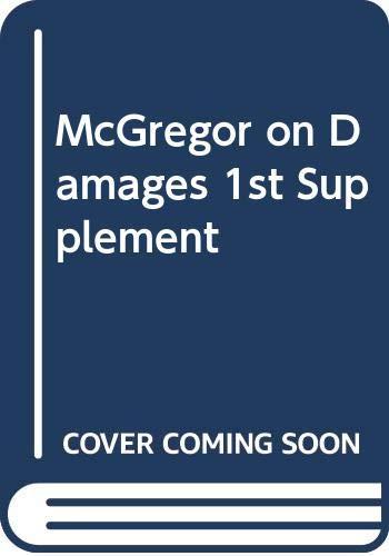 9780414053151: McGregor on Damages 1st Supplement