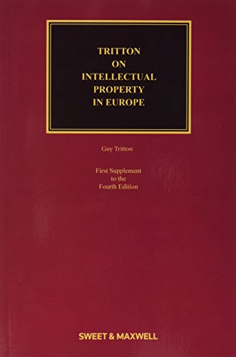 9780414054271: Tritton on Intellectual Property in Europe 1st Supplement