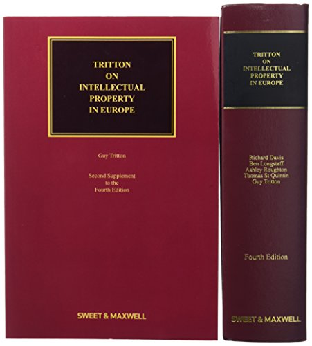 9780414054288: Tritton on Intellectual Property in Europe Mainwork & Supplement