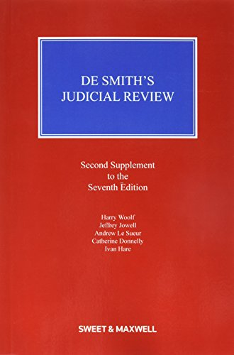 9780414054509: De Smith's Judicial Review 2nd Supplement